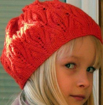 Ажурные шапочки для девочек спицами схемы описание