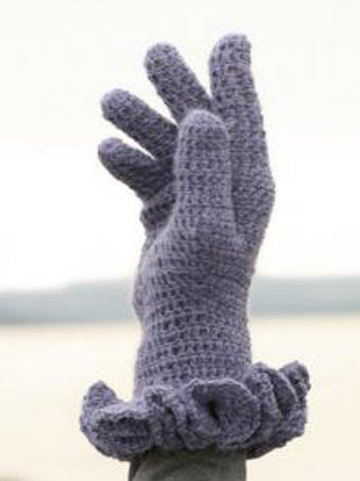 Перчатки для девочки крючком