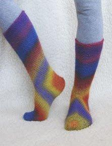 Детские носки в технике вязания от пяточки.