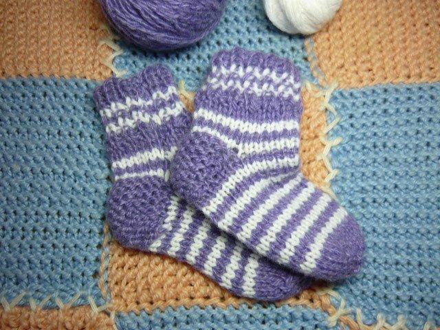 Носки для мальчика в полоску