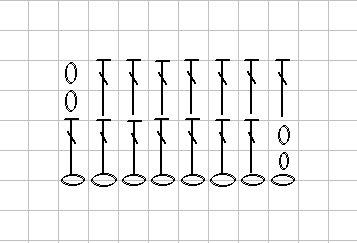 Схема столбиков с накидом