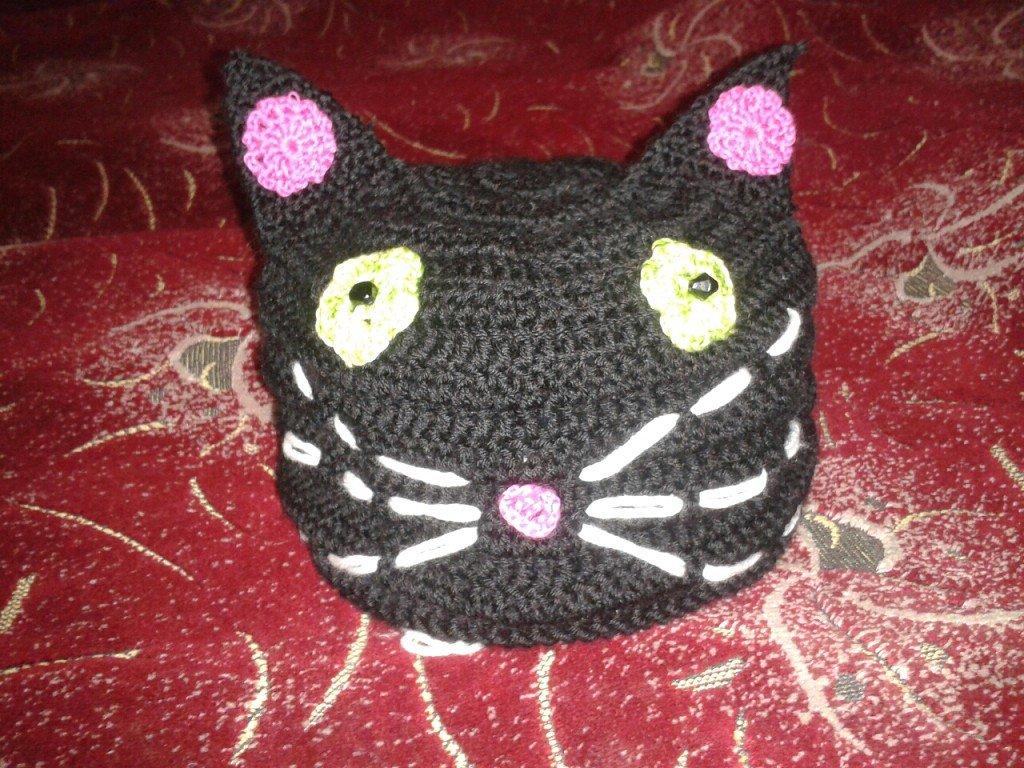 Шапочка-кошка для девочки крючком