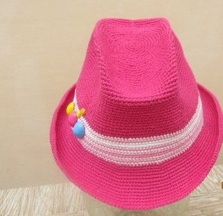 Ковбойская шляпка для девочки крючком