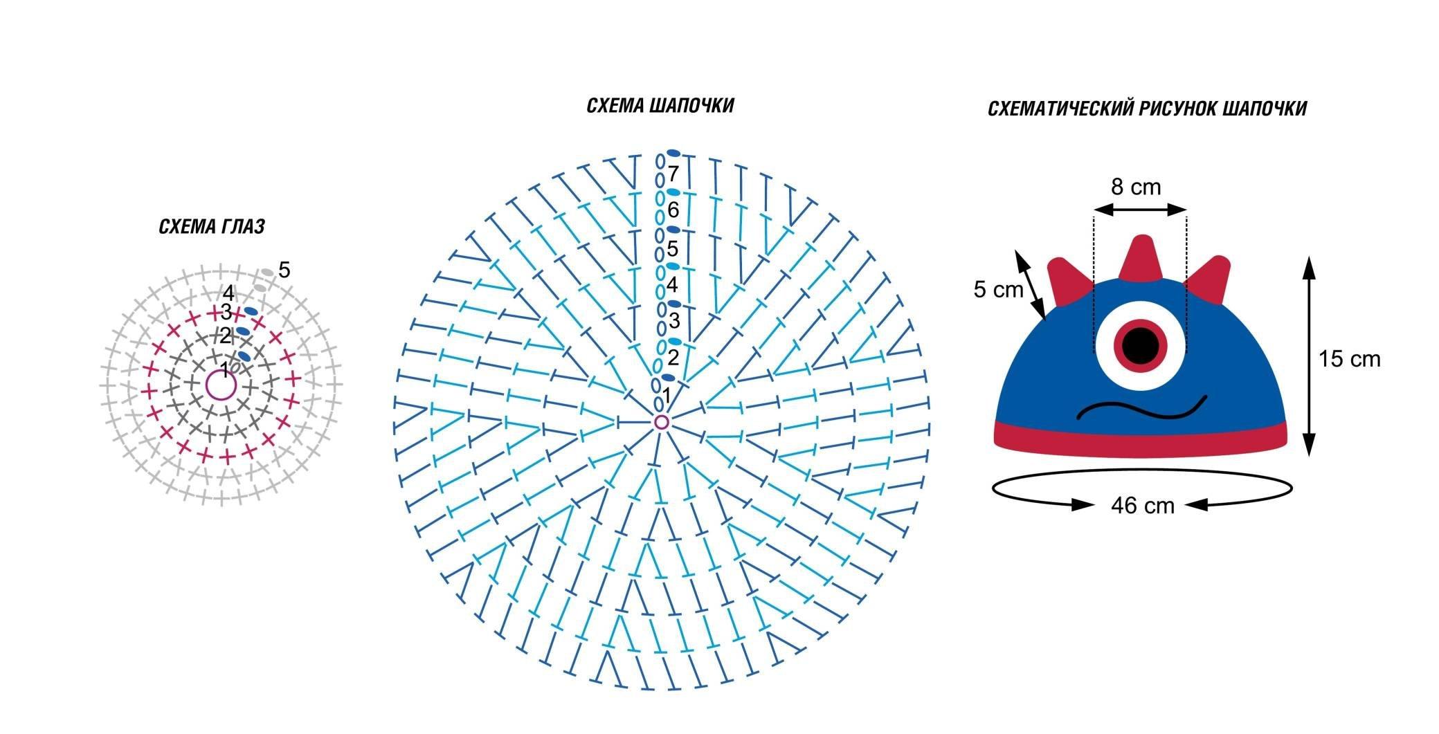 схема дракон для вязания варежек