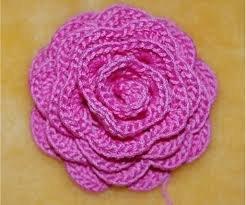 Роза крючком для детской шапочки