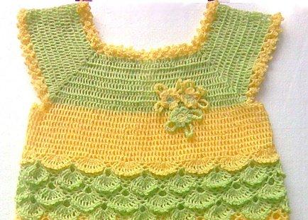 Кокетка с квадратным вырезом горловины для детского платья