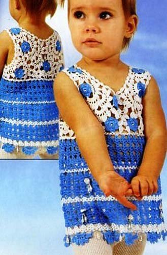 Детское платье в технике ирландскогокружева