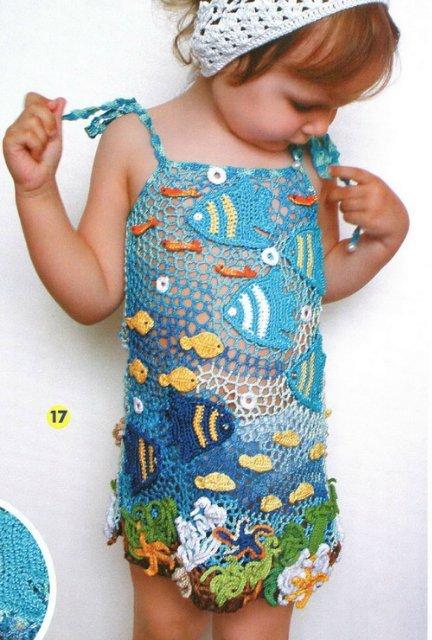 Платье для девочки Морское