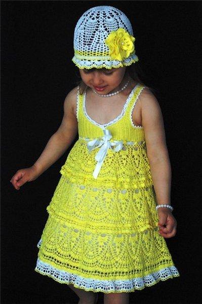Кружевной подол с воланами для детского платья