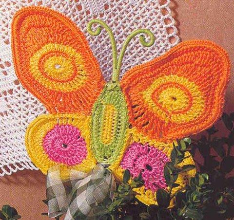 Аппликация для детского платья Бабочка