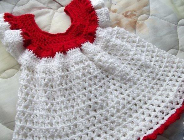 Платье крючком для девочки 6 месяцев