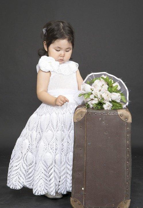 Бальное платье для девочки крючком