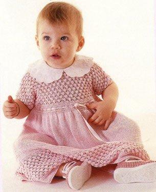 Детское платье с ажурным узором Ежевика
