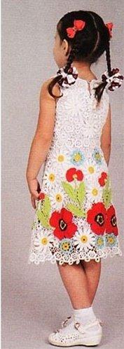 Летнее платье крючком с маками