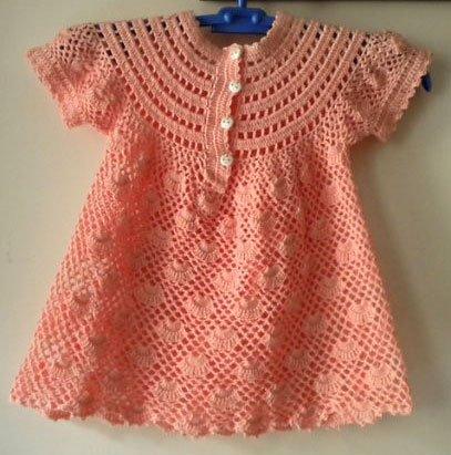 Летнее ажурное  платье для девочки крючком