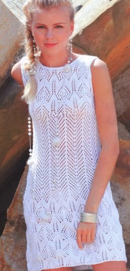 Вязание спицами платье подросток
