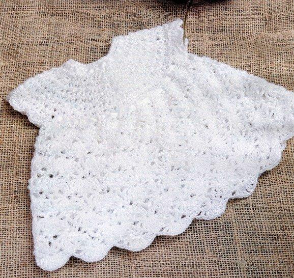 Платье для новорожденной девочки крючком