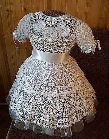 Нарядное платье для девочки 5 лет крючком