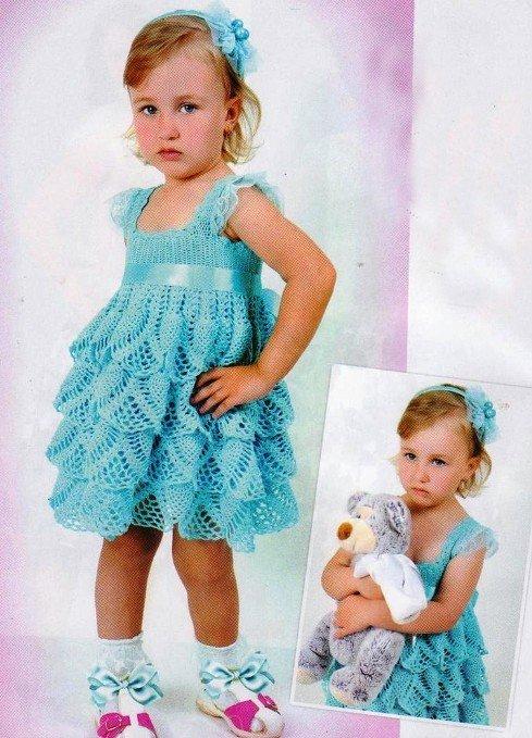 Платье с воланами на 3 года