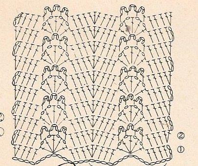 Схема вязания основного рисунка