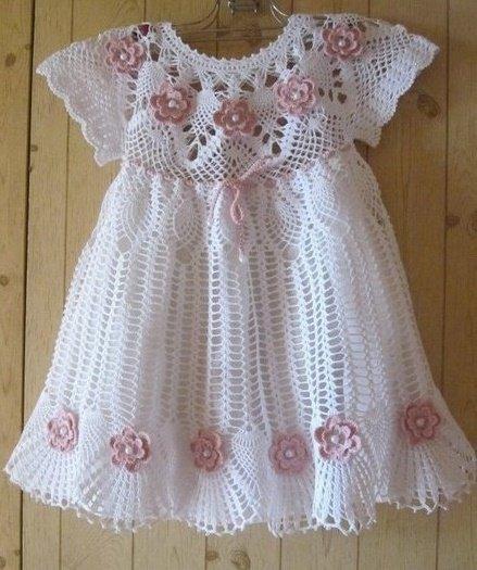 Платье для крещения с цветами
