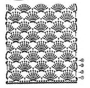Схема вязания подола платья