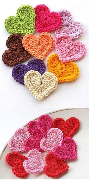 Украшение для детских пинеток сердечки
