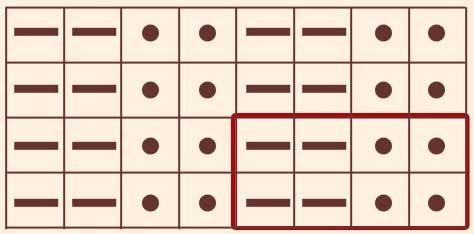 Схема резинки 2х2
