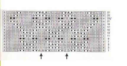 Схема вязания рельефного узора