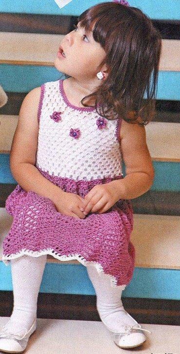 Сарафан крючком для девочки 4 года