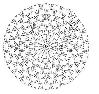 Схема вязания № 1.