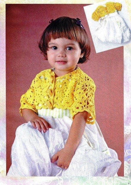 Болеро на девочку 2 лет из мотивов