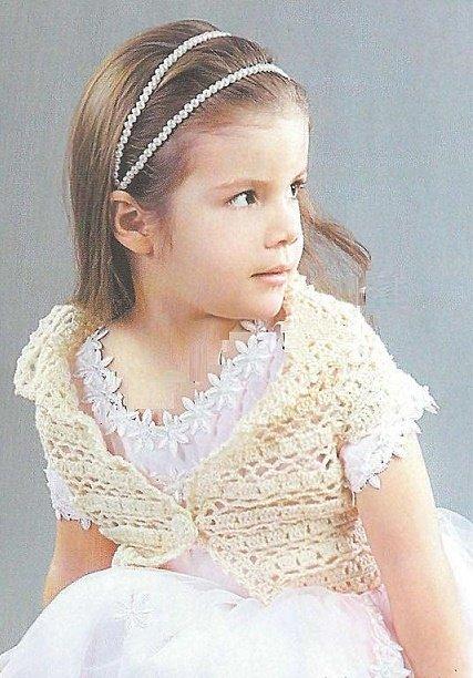 Ажурное болеро для девочки 5 лет крючком