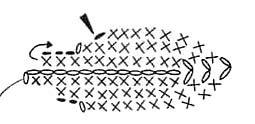 Схема вязания листиков