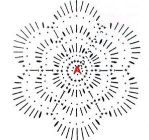 Схема цветка для филейного вязания