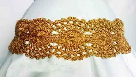 Ажурная повязка для девочки крючком