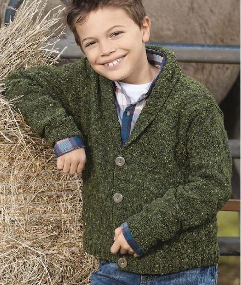 Кофта спицами для мальчика 6 лет