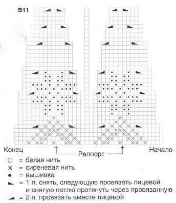Схема вязания звёздочек