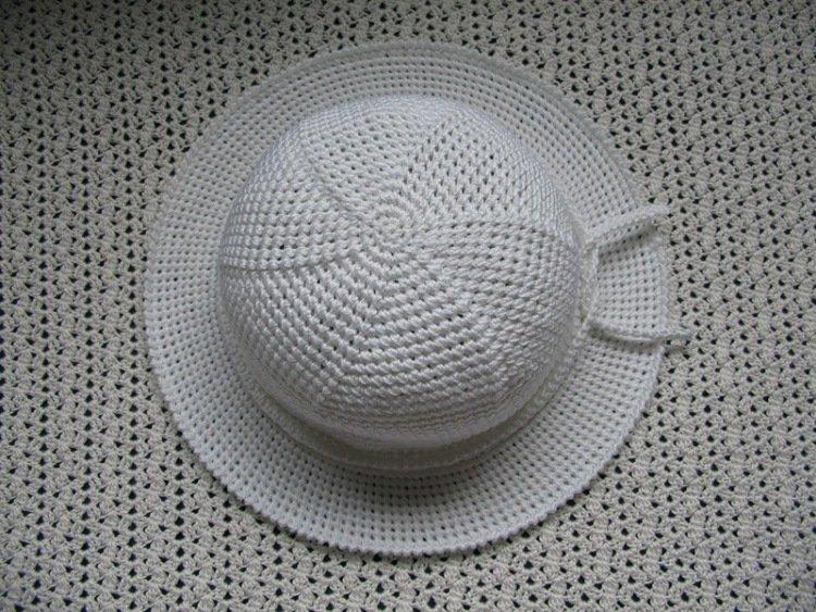Шляпа для девочки крючком схема фото 526