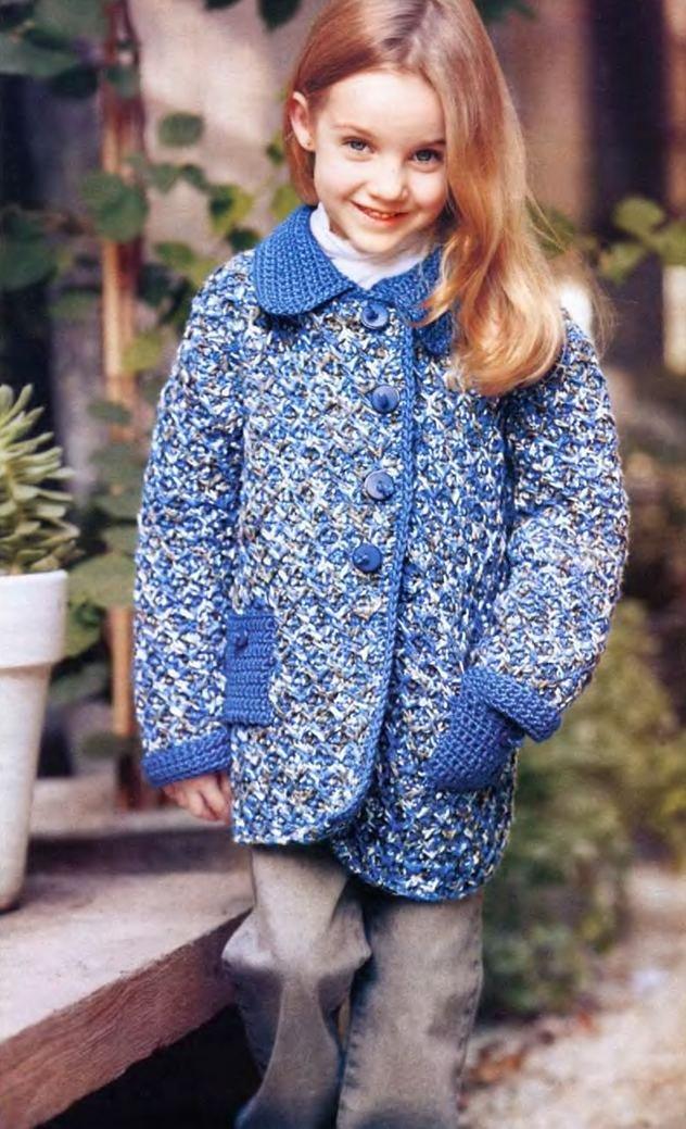 Весеннее пальто для девочки крючком