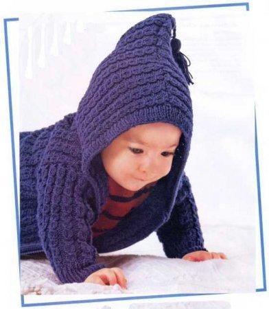 Пальто спицами для мальчика 1 год