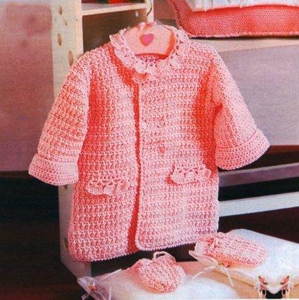 Пальто для девочки 1 год крючком