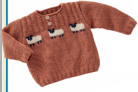 Свитер с овечками для мальчика 1 год спицами