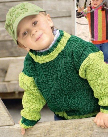 Свитер для мальчика 3 года спицами