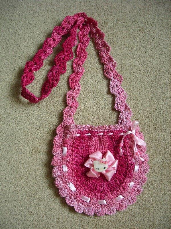 Меланжевая сумочка для девочки крючком