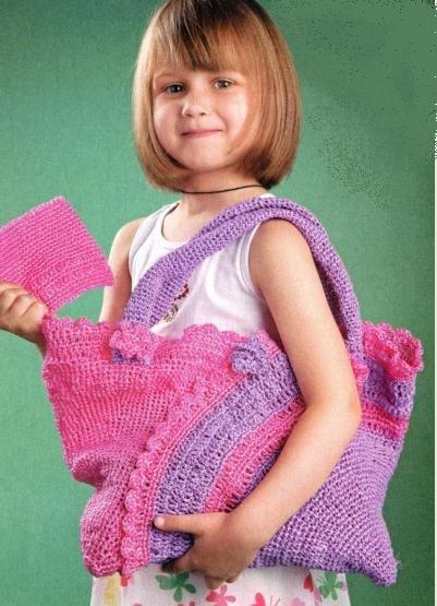 Яркая летняя сумочка для девочки крючком