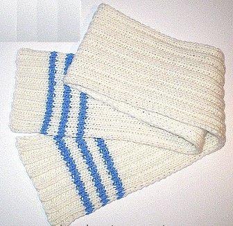 Простой шарфик для мальчика спицами