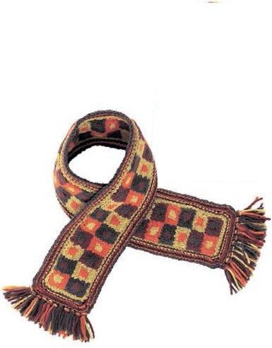 Жаккардовый шарф для мальчика спицами
