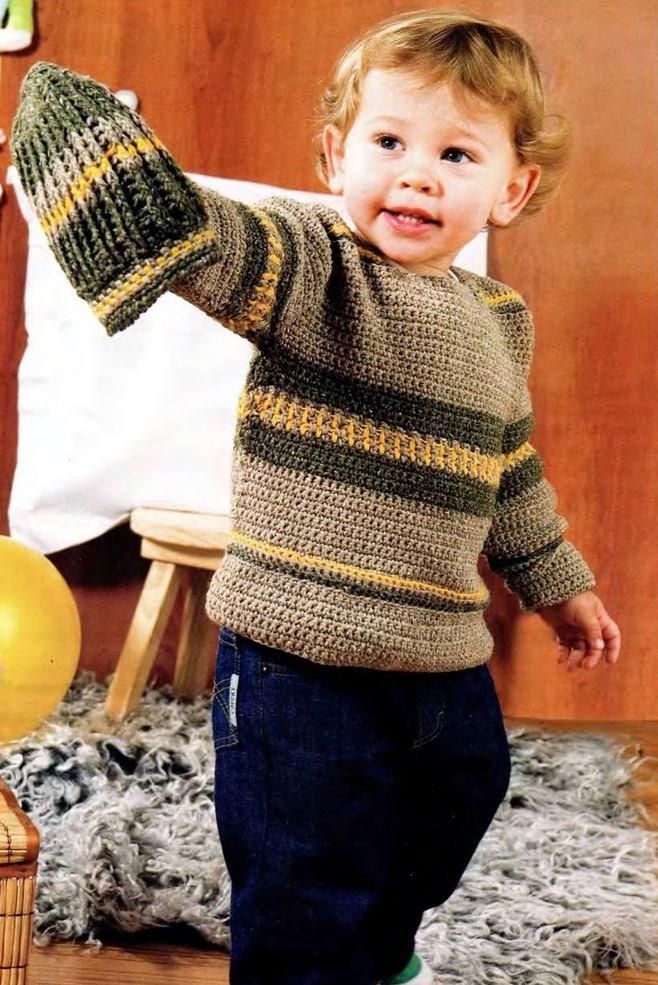 Джемпер для мальчика крючком