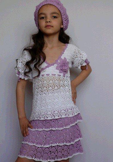 Летняя блуза для девочки с пышными рукавами